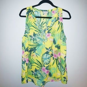Eliane Rose Yellow and Green Tropical Blouse